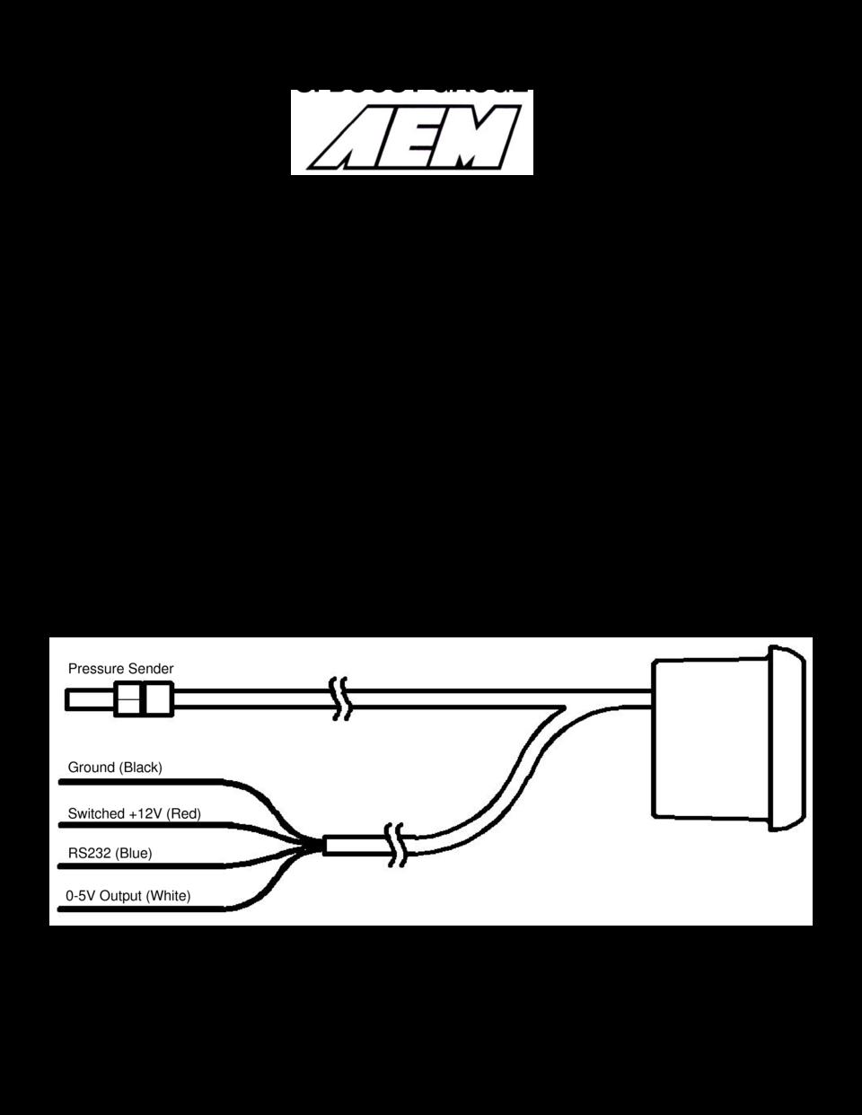AEM Digital Boost Gauge 304408 User Guide