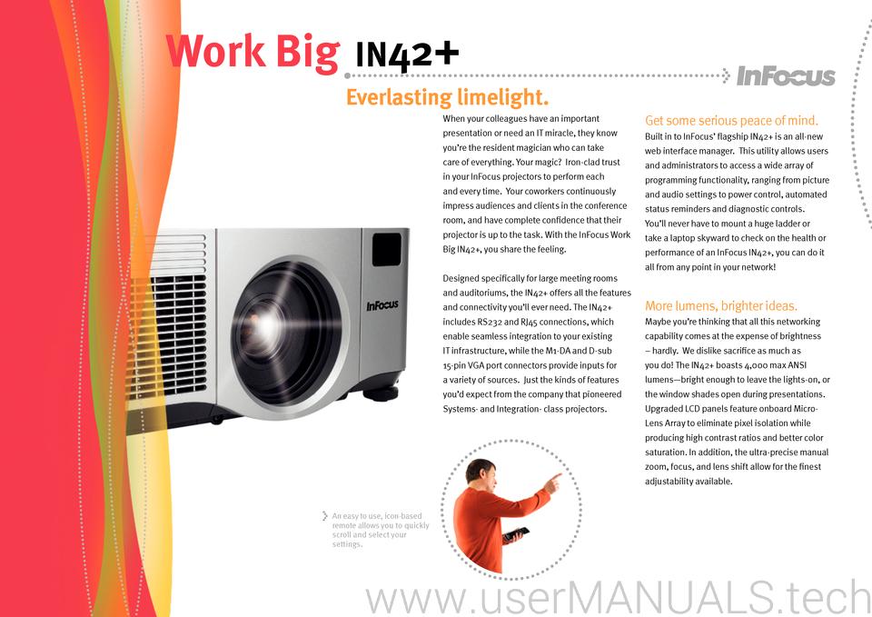 Infocus in 42 manual