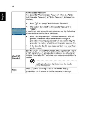 Acer user manual default password