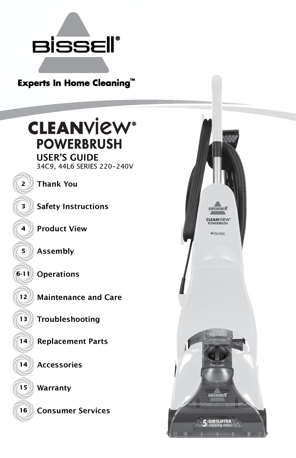 Bisell Bissell Advanced Carpet Cleaner 44l68 User Guide