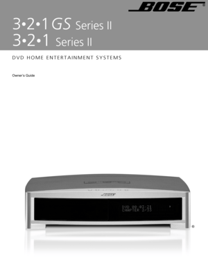 bose 321 gs series iii manual