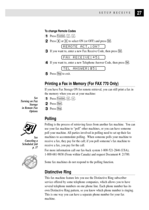 Brother Intellifax 770 Home Office Fax Machine Owners Manual