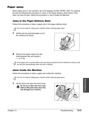 Canon printer FAXPHONE L75 User Manual