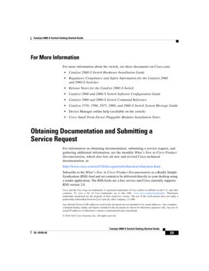 Cisco 2960s User Manual