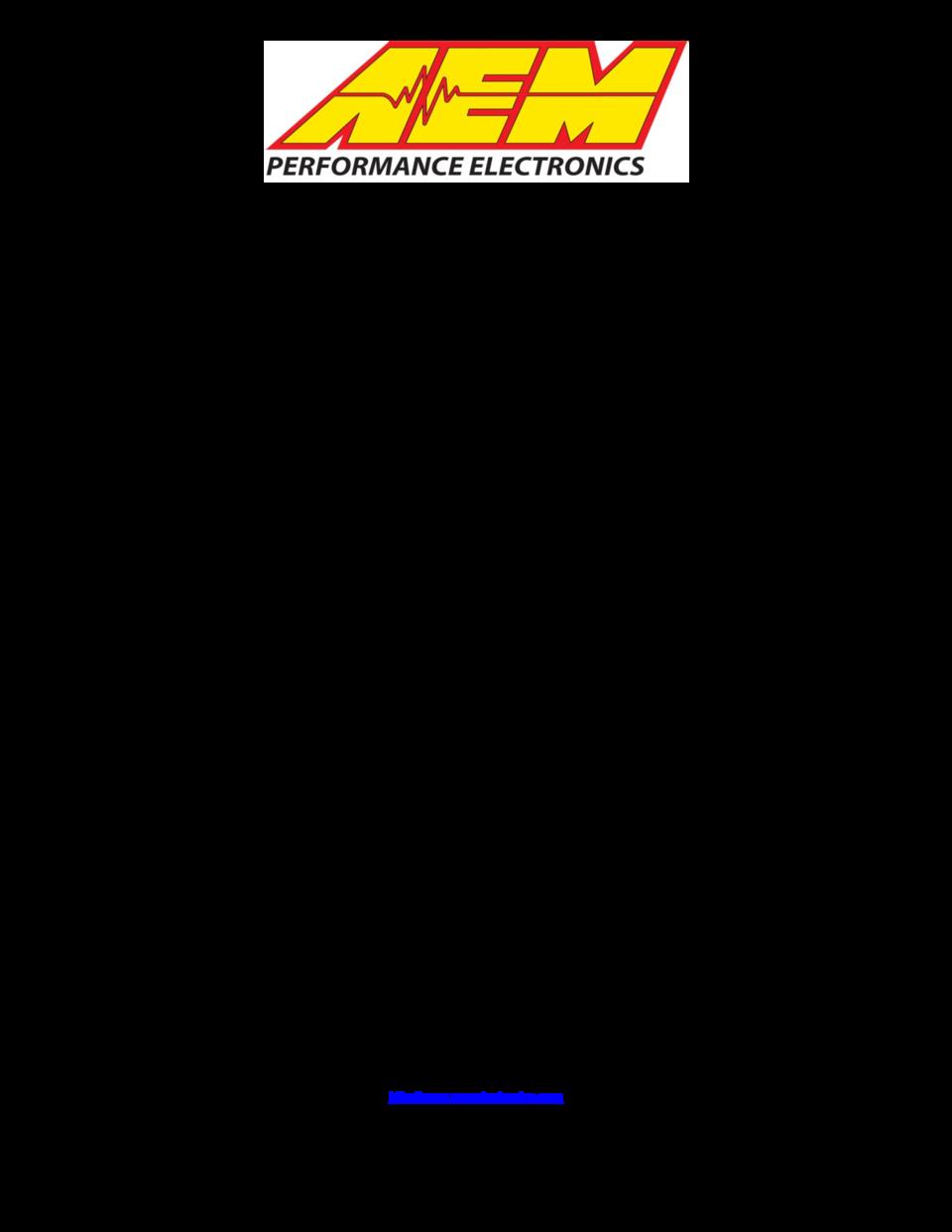 AEM Digital Wideband UEGO Gauge without Sensor 304110NS User Manual