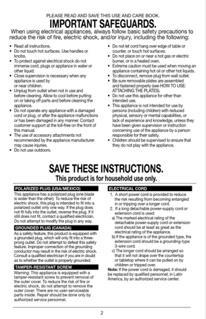 George Foreman 180 Grill System Grp3180 User Manual