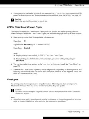 Epson AcuLaser C2800N User Manual