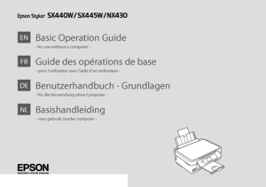 epson nx430 owners manual