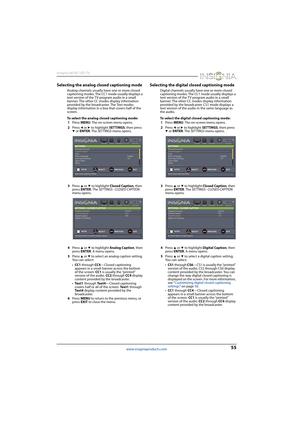 Insignia NS-46D400NA14, NS-50D400NA14 Led Tv User Guide