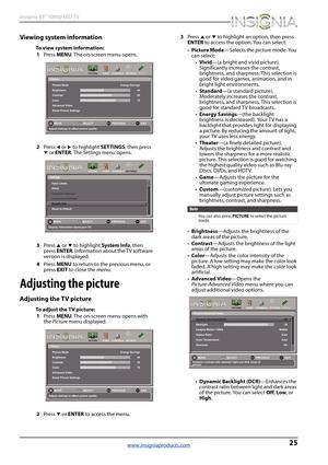 Insignia NS-65D260A13 LED TV User Manual