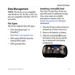 Garmin Etrex 10,20,30 Owners Manual