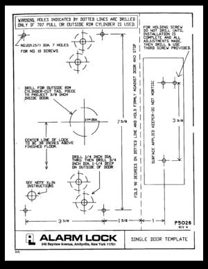 alarm lock panic exit devic 700 710 installation template user manual