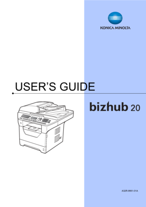 Konica Minolta bizhub 20 User Manual