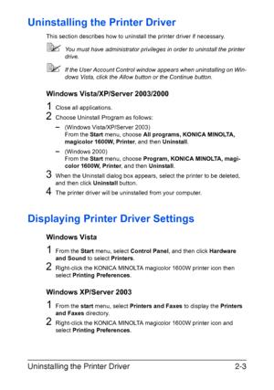 Konica Minolta magicolor 1600W User Manual