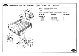 Parts Catalogue Land Rover One Ten 1987 Rover Manual