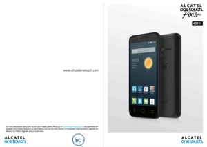 instruction manual for alcatel one touch mobile phone