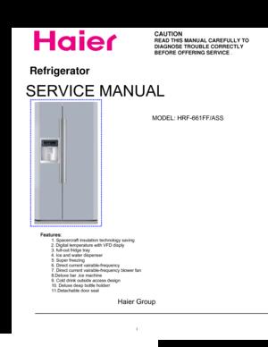 Haier Hrf 661ff Service Manual on