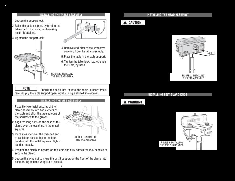 alltrade kawasaki 13in drill press 840091 user manual