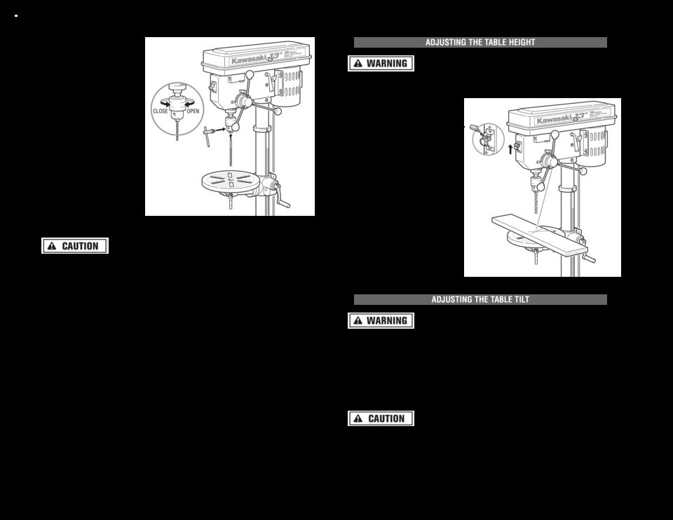 alltrade kawasaki 13in drill press 840139 user manual, page: 13