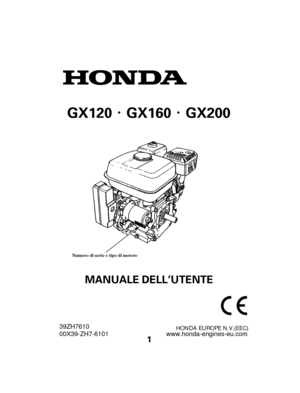 honda engine gx120 gx160 gx200 italian version manual Honda 5.5 HP Engine Specs Honda GX200