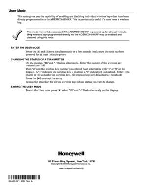 Honeywell keypad 6150rf user manual page 2 k4461 1v1e k4461 1v1 405 rev a user mode sciox Image collections