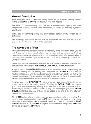honeywell central heating timer instructions