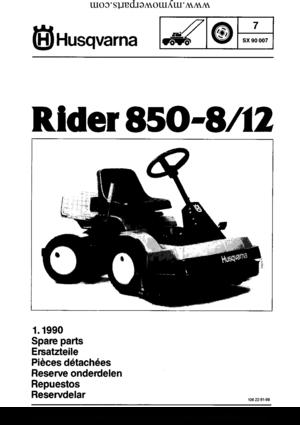 Husqvarna Rider 850-8 Manual