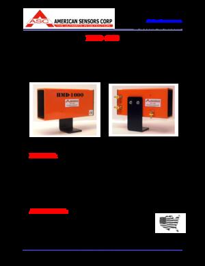 American Sensor Hot Metal Detector HMD1000 User Manual