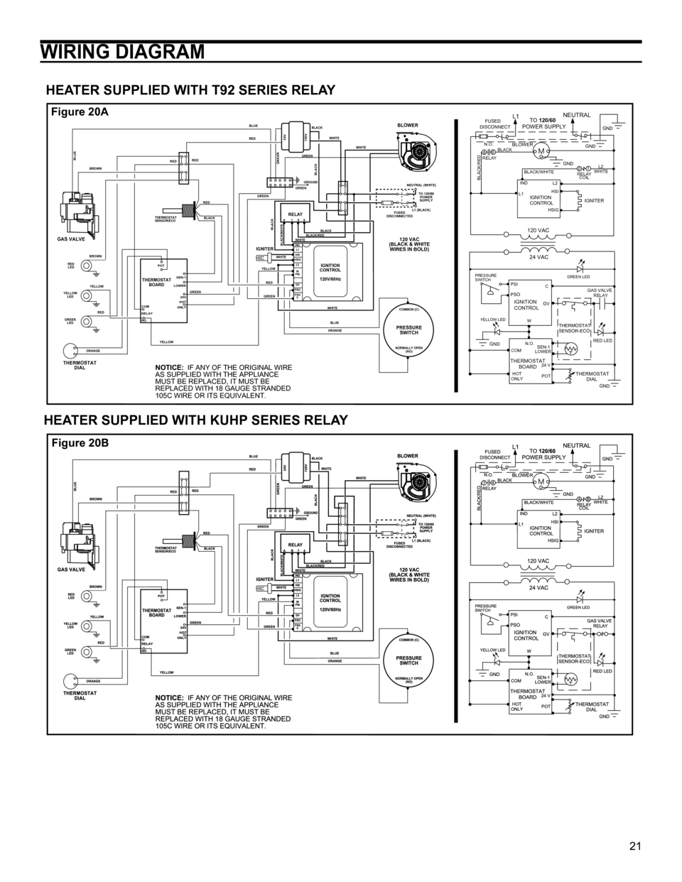 american water heater polaris high efficiency commercial gas water 21 wiring diagram heater supplied t92 series relay heater supplied kuhp series relay notice if any of the original wire as supplied the