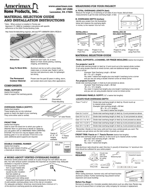 Amerimax Soffit Installation Guide