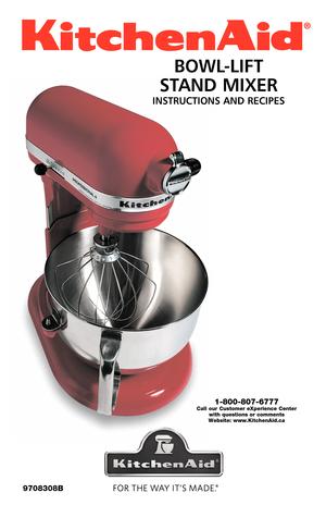 Kitchenaid Professional 5 Manual