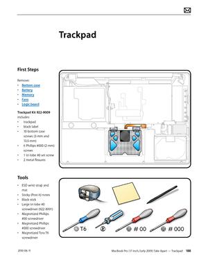 Apple macbook pro 17 inch mid 2009 User Manual