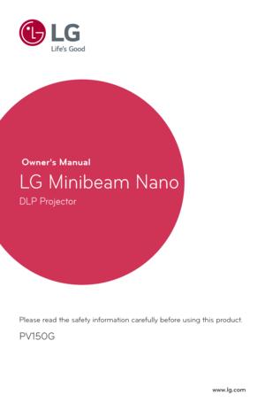 LG Projector Minibeam Nano PV150G User Manual