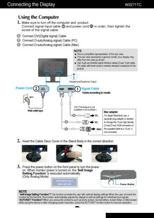 LG Flatron W2271tc Users Guide