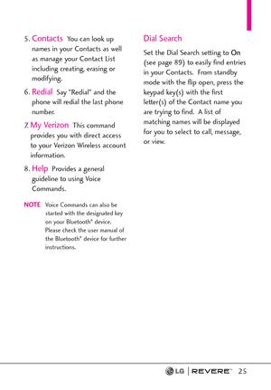 LG Revere User Guide