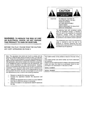 Technics Digital Piano Sx Px226 Owners Manual