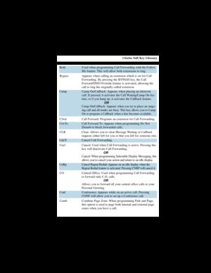 NEC I Series Soft Key Glossary Manual
