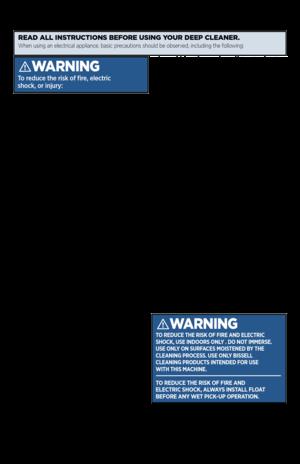 bissell proheat 2x pet manual pdf