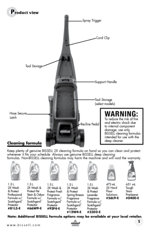 Bisell Cleanview Liftoff Carpet Cleaner 22k7e User Manual