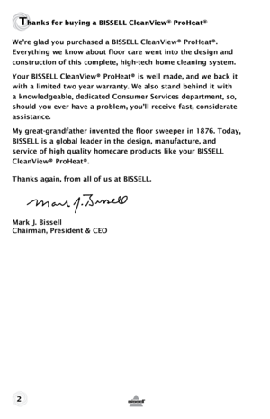 bissell proheat cleaning instructions