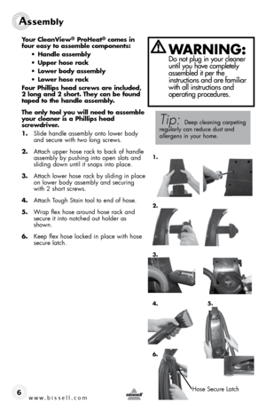 bissell cleanview proheat carpet cleaner instructions