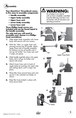 bissell cleanview powerbrush instructions