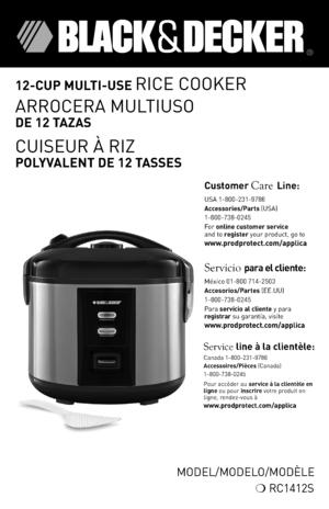 Black & Decker RC3406 White 3-Cup Rice Cooker - Newegg.com
