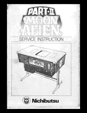 Nichibutsu moon alien part ii service instruction manual sciox Images