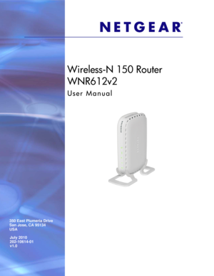 Netgear Wireless N 150 Router Wnr612 User Guide