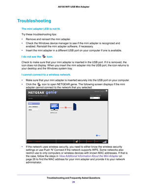 Netgear A6100 Ac600 Dual Band Wifi Usb Mini Adapter User Manual