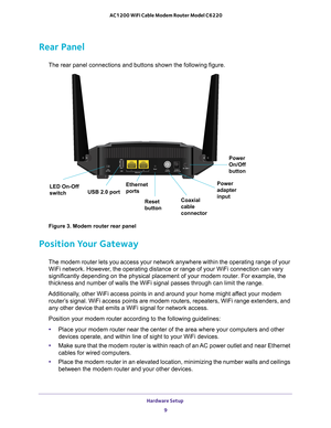 Netgear C6220 Docsis 3 0 High Speed Wifi Cable Modem Router