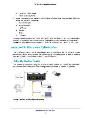 Netgear C6250 Ac1600 Wifi Cable Modem Router User Manual