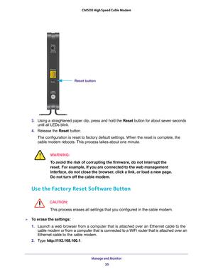 Netgear Cm500 High Speed Cable Modem Docsis 3 0 User Manual