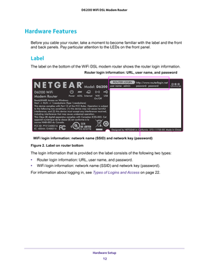 Netgear D6200 Wifi Dsl Modem Router User Manual